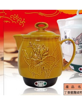 丁香花陶瓷煎藥壺 (啞巴媳婦)