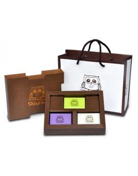貓頭鷹森林系列-優質手工皂-3入裝禮盒